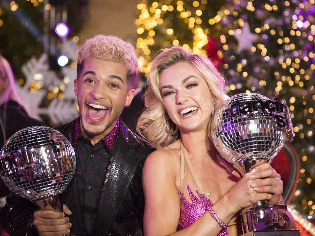 "Cover image for  article: ""DWTS"":  Backstage with Winners Jordan Fisher and Lindsay Arnold"