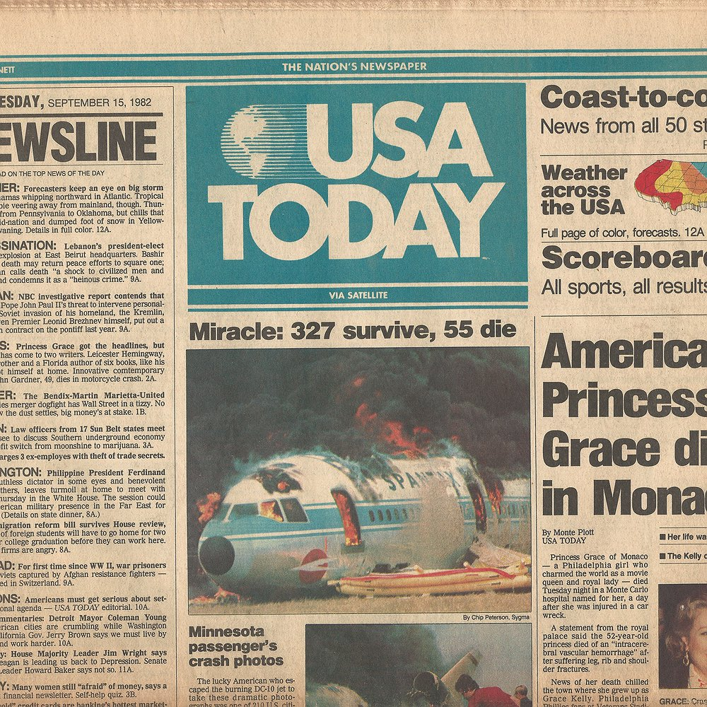 Preview image for article: HISTORY's Moments in Media: 38 Years of USA Today: What's Next for History's Most Successful National Newspaper?