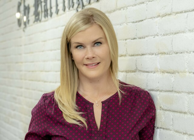 Cover image for  article: Alison Sweeney's Love of True Crime Podcasts Led to Her New Hallmark Franchise