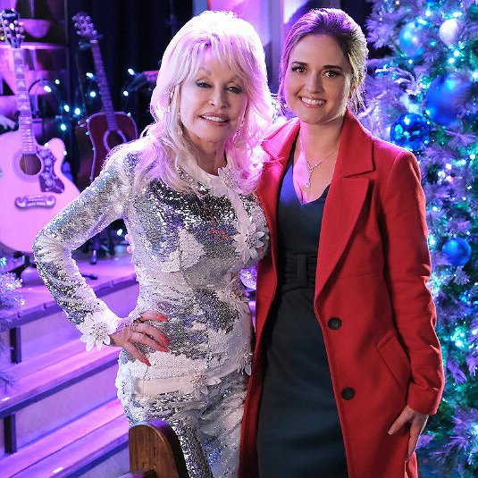 "Preview image for article: Danica McKellar Teams with Dolly Parton for ""Christmas at Dollywood"""