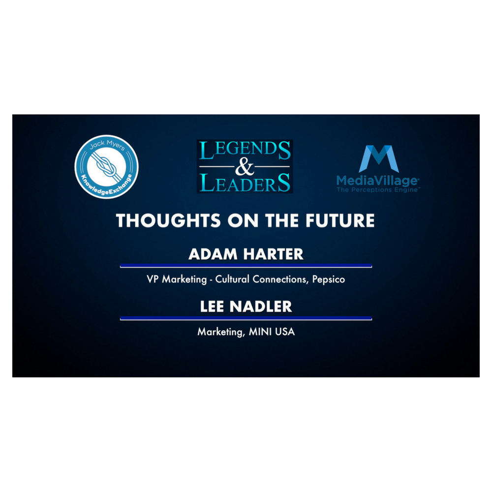 Cover image for  article: Video: Thoughts on the Future with Pepsico's Adam Harter and MINI's Lee Nadler