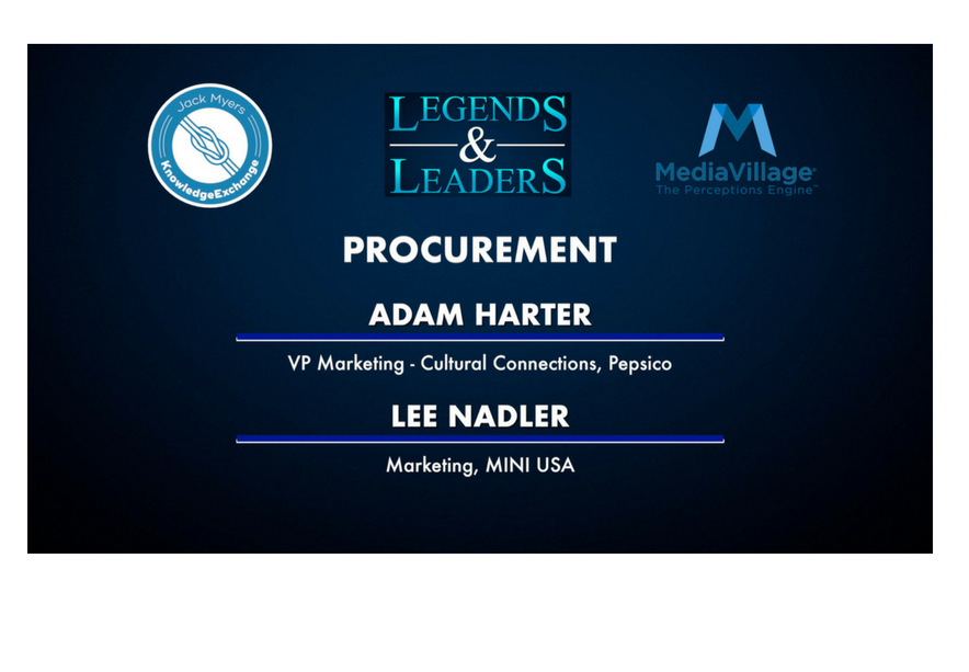Video: Procurement with Pepsico's Adam Harter and MINI's Lee Nadler logo