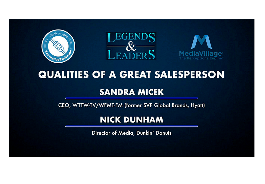 Video: Qualities of A Great Salesperson with Sandra Micek and Nick Dunham