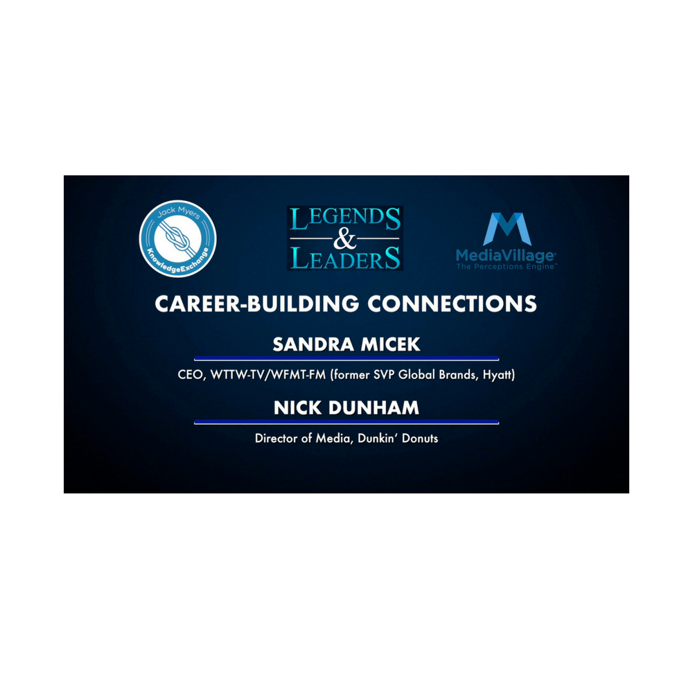 Cover image for  article: Video: Career-Building Connections with Sandra Micek and Nick Dunham
