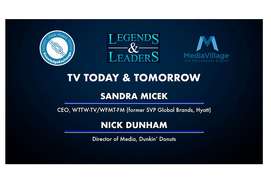 Video: TV Today and Tomorrow with Sandra Micek and Nick Dunham
