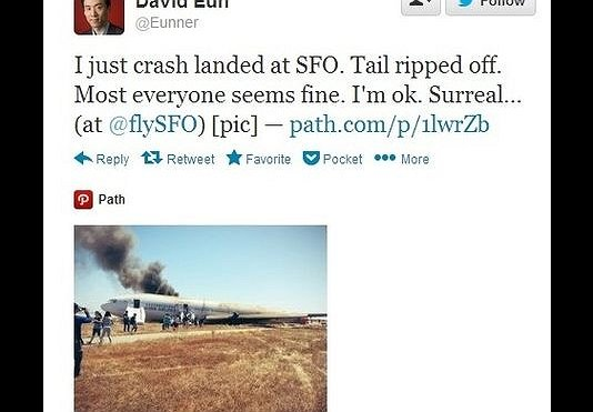 Asiana Air 214 Crash and Twitter: More Haste; Less Noise