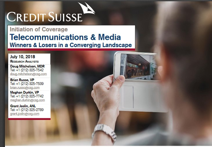 New Credit Suisse Report on Media and Telecommunication, Plus Upfront Inflation Estimates