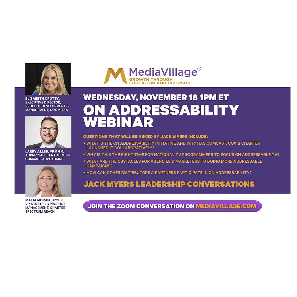 "Preview image for article: ""On Addressability"" How-to Webinar this Wednesday 1pm ET Live at MediaVillage.com"