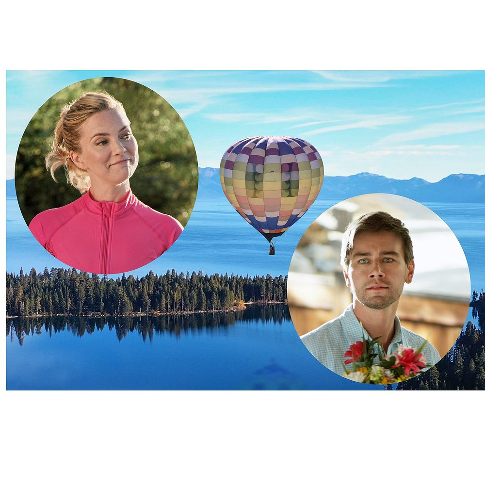"Preview image for article: Cindy Busby and Torrance Coombs Find ""Romance in the Air"" on Hallmark Channel."