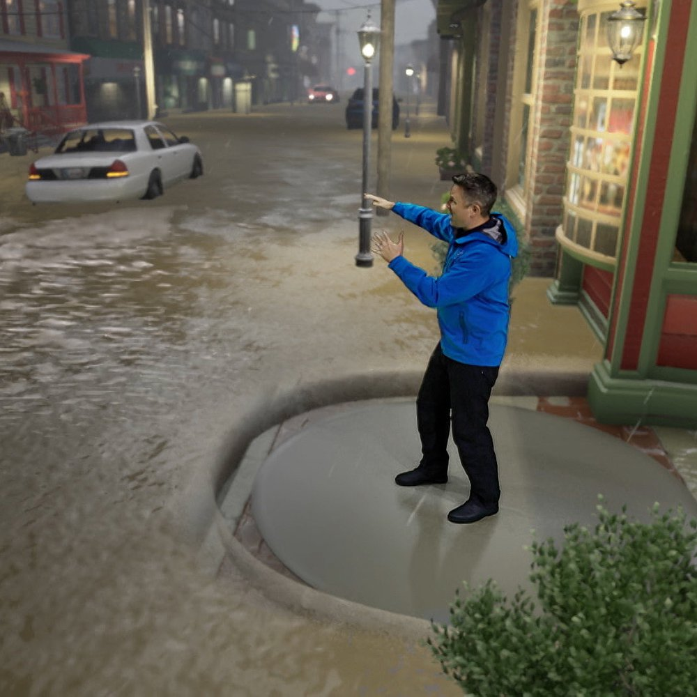 Preview image for article: The Weather Channel Uses Immersive Mixed Reality to Bring Weather to Life