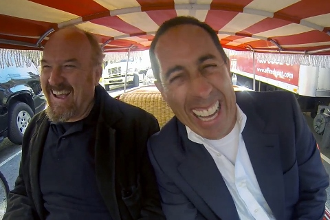"Cover image for  article: ""Comedians in Cars Getting Coffee"" and ""In Bed with Joan"" Take New Approaches to Celebrity Chat  - Ed Martin Watercooler Video"