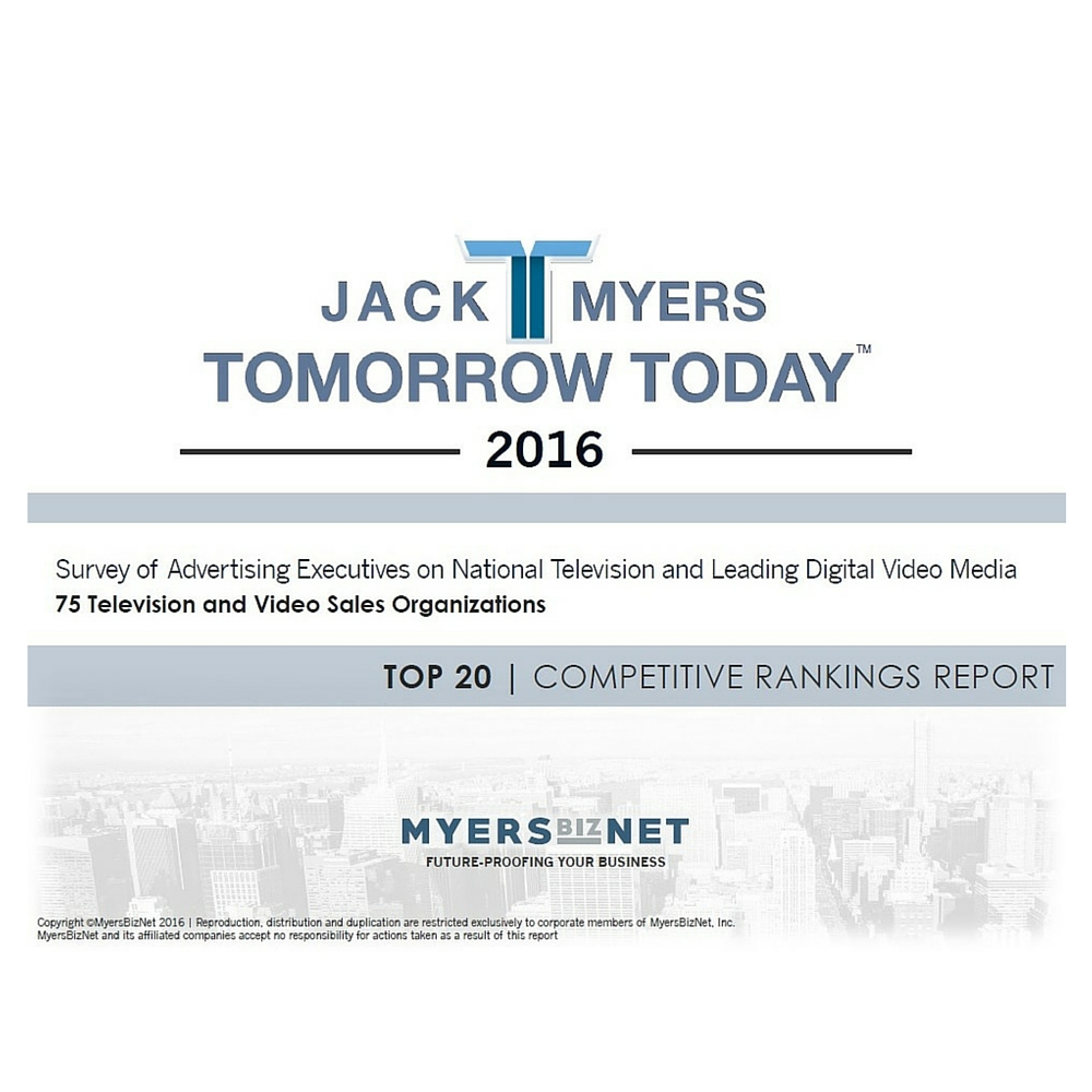 Cover image for  article: 2016 Survey of Advertising Executives on National Television and Leading Digital Video Media