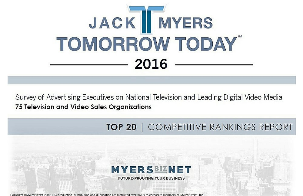 2016 Survey of Advertising Executives on National Television and Leading Digital Video Media