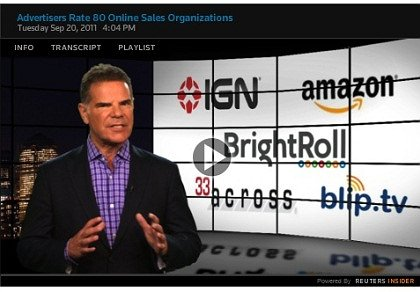 Jack Myers Video Report: Advertisers Rate 80 Online Sales Organizations: Quality & Customer Service
