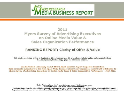 Cover image for  article: Myers Online Media Survey Report Attached: Clarity of Offer and Value