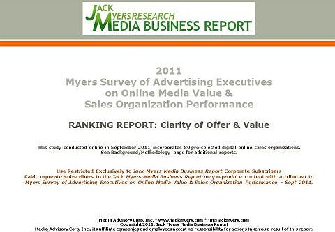 Myers Online Media Survey Report Attached: Clarity of Offer and Value