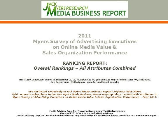 Myers Online Media Survey Report Attached: Overall Rankings Report