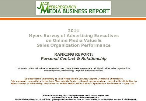 Report #3: Leading Online Sales Organizations -- Personal Contacts & Relationships