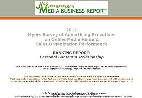 Myers Online Media Survey Report Attached: Personal Contact & Relationship