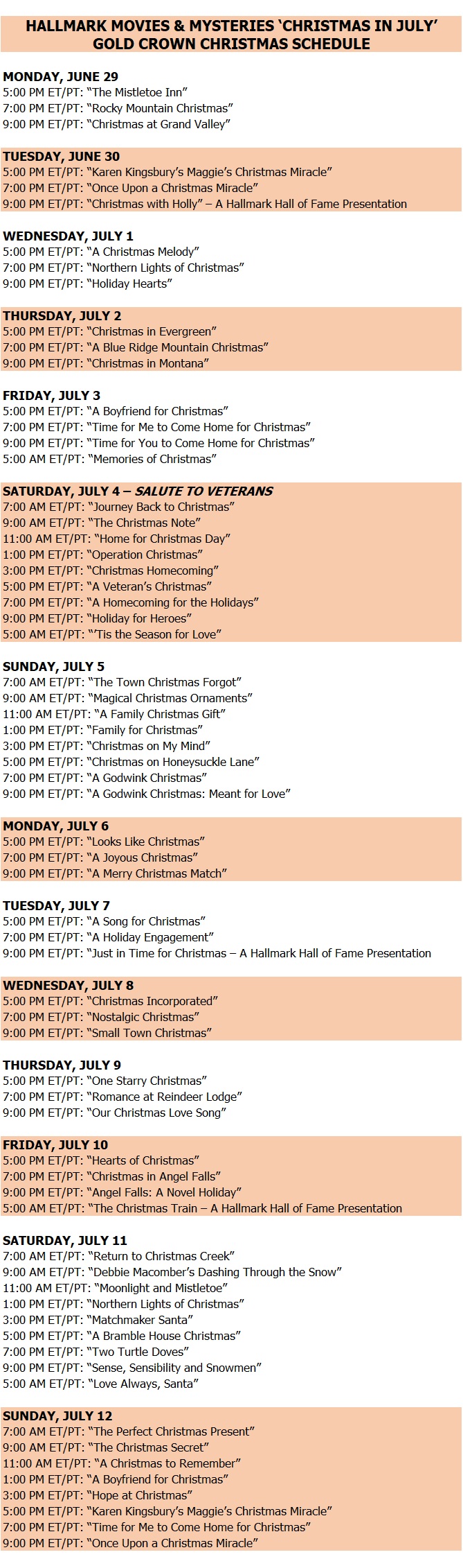 When Is s Christmas In July 2020 It's Christmas in July Thanks To Crown Media: Viewing Guide Here